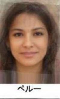 ペルー平均顔